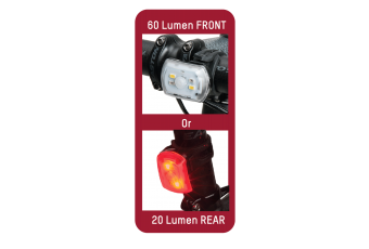 BLACKBURN 2'FER 60/20 FRONT/REAR LIGHT SINGLE
