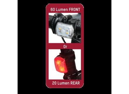 BLACKBURN 2'FER 60/20 FRONT/REAR LIGHT SINGLE