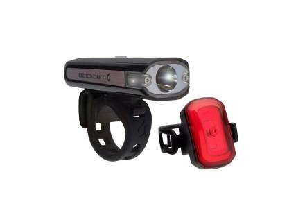 BLACKBURN CENTRAL 200 FRONT + CLICK USB REAR LIGHT SET